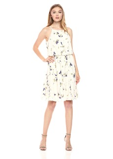 Nine West Women's Sleeveless Dress with Shirring AT Waist