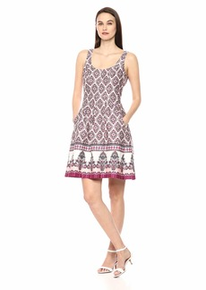 Nine West Women's Sleeveless Fit & Flare Dress