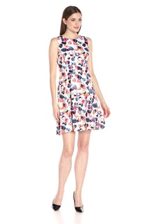 Nine West Women's Sleeveless Fit-And-Flare Cotton Dress