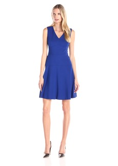 Nine West Women's Sleeveless Fit and Flare Dress with Seam Detail