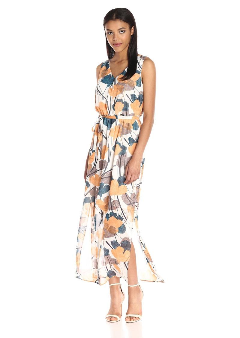 Nine West Nine West Women s Sleeveless Floor-Length Maxi Dress with ... 6c69522c5