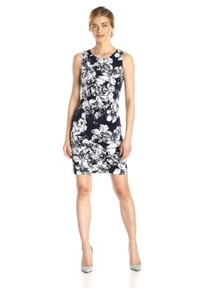 Nine West Women's Sleeveless Floral Print Sheath Dress