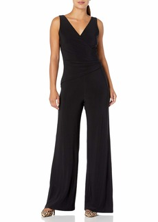 Nine West Women's Sleeveless Jumpsuit with Asymetrical Bodice