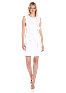 Nine West Women's Sleeveless Linen Dress with Tie Front