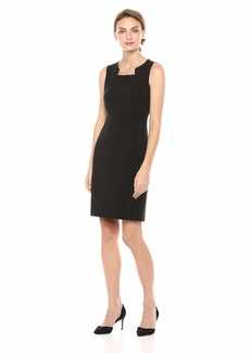 Nine West Women's Sleeveless Modified Square Neck Dress