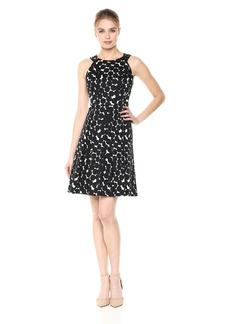 Nine West Women's Sleeveless Polka dot fit and Flare Dress