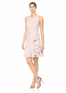 Nine West Women's Sleeveless Ruffle Hem Dress