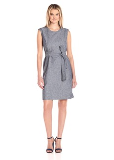 Nine West Women's Sleeveless Tie Front Dress