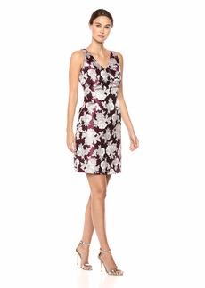 NINE WEST Women's Sleeveless V-Neck Aline Dress