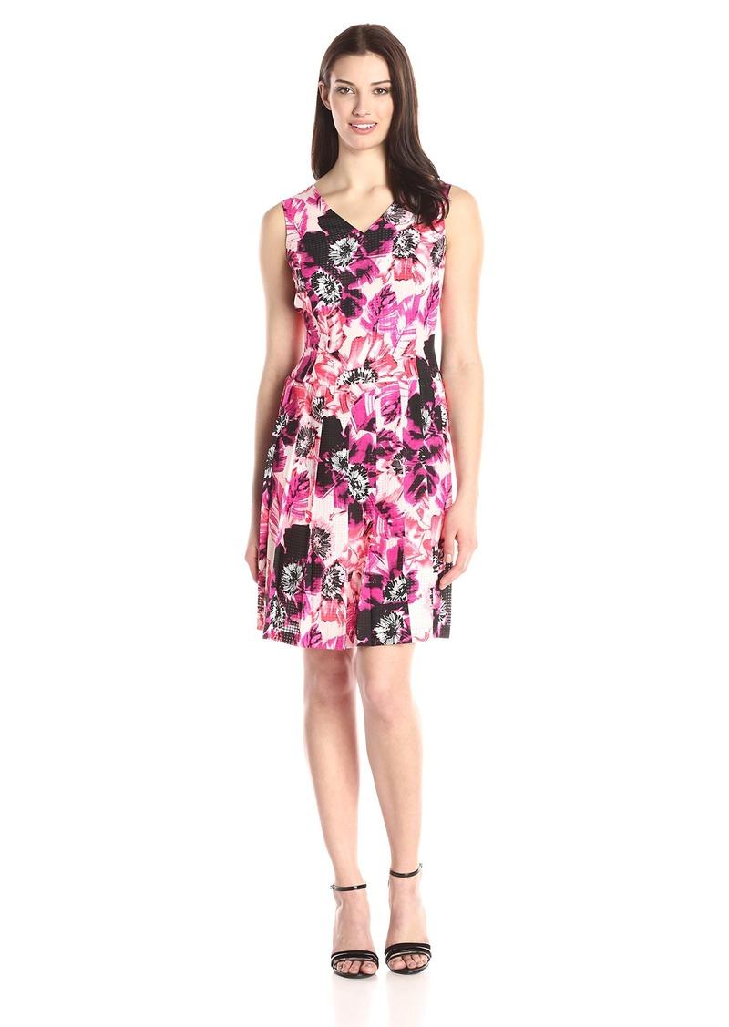 00096b6a544fc Nine West Nine West Women s Sleeveless V-Neck Drop Waist Dress with ...