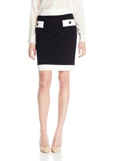 Nine West Women's Slim Skirt W/Contrast Pocket Detail