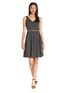 Nine West Women's Sleeveless Box-Pleat Cotton Dress