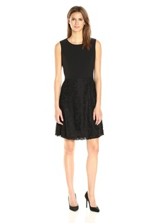 Nine West Women's Slvless Fit and Flare Dress