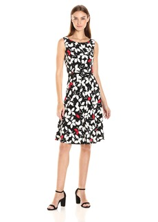 Nine West Women's Slvless Fit and Flare Multi
