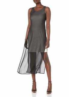 NINE WEST Women's Slvless Georgette Scoopneck Maxi Dress