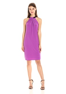 Nine West Women's Slvless Shift Dress W/ Neck Detail