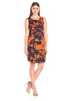 Nine West Women's Slvless Shirtail Shift Dress