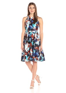 Nine West Women's Slvless Shtng Fit and Flare
