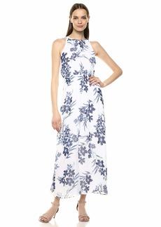 Nine West Women's Smocked Halter Neckline Maxi Dress