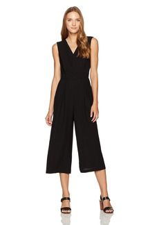 Nine West Women's Solid Bi Stretch Jumpsuit