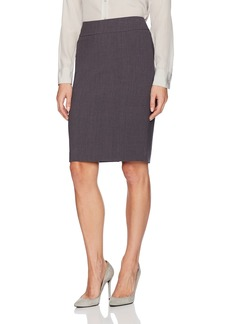 Nine West Women's Solid Bi Stretch Slim Skirt