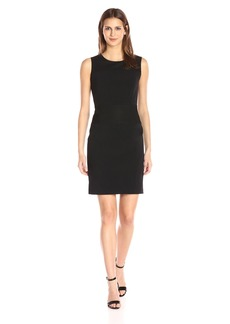 Nine West Women's Solid Dress with Mesh Backing