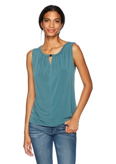 Nine West Women's Solid Ity Blouse With Keyhole (2)  L