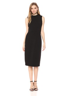Nine West Women's Solid Mock Neck Dress