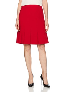 Nine West Women's Solid Pleated Skirt