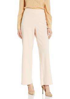 NINE WEST Women's Plus Size Solid Soft Crepe Flare Bottom Pant