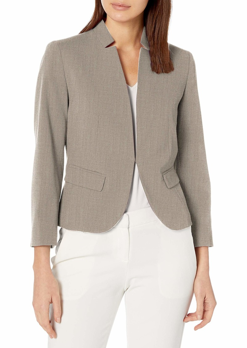 Nine West Women's Stand Collar Kissing Jacket