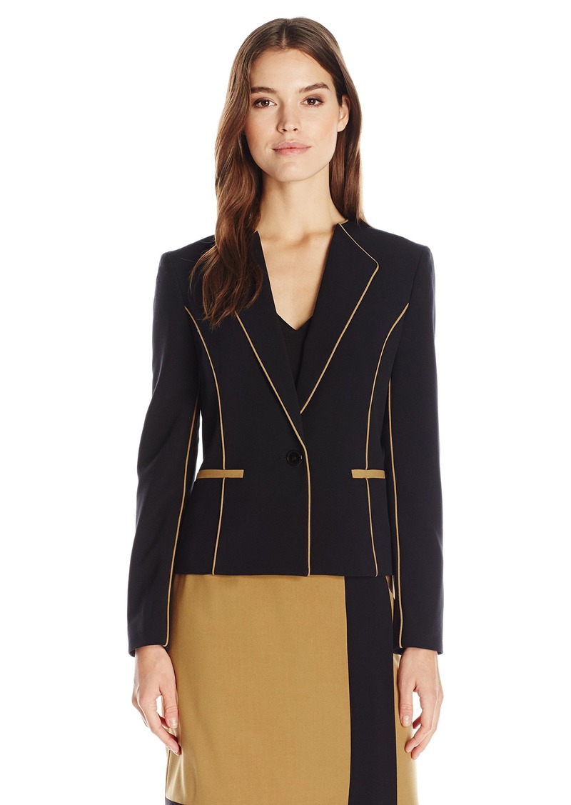 Nine West Women's Stretch Crepe 1 Button Jacket