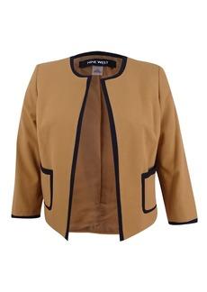 NINE WEST Women's Stretch Crepe Jacket
