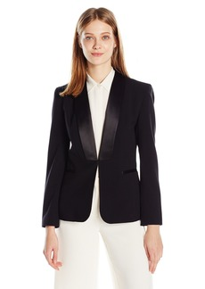 Nine West Women's Stretch Crepe Kiss Front Jacket