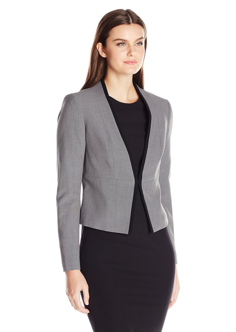 61e7637f750 Women s Stretch Crepe Kiss Front Jacket (7). Nine West.  44.63- 99.00. from Amazon  Fashion
