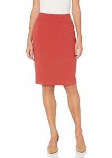 NINE WEST Women's Stretch Crepe Pull ON Skirt  M