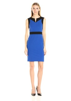 Nine West Women's Stretch Crepe Sheath Dress