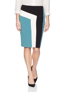 Nine West Women's Stretch Crepe Slim Skirt