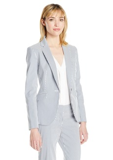 Nine West Women's Stripe 1 Button Jacket
