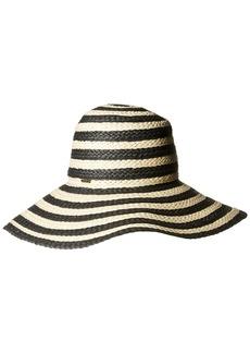 Nine West Women's Stripe Floppy Hat