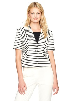 Nine West Women's Stripe Ponte Jacket