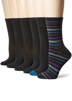 Nine West Women's Striped Basic Crew Socks 6-Pack