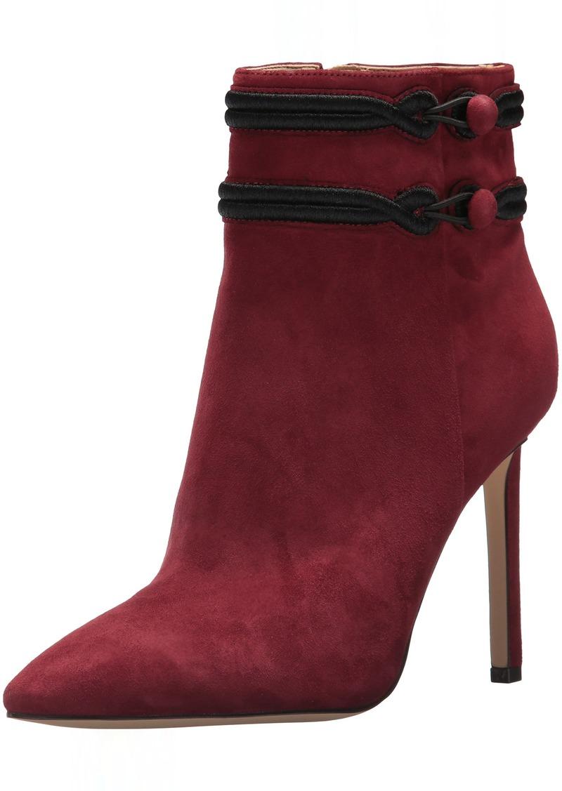 Nine West Women's Teresa Suede Ankle Boot Wine