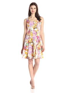 Nine West Women's Tropical Wallpaper Tank Dress