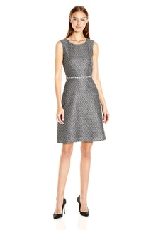 Nine West Women's Tweed Fit and Flare Dress