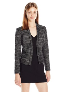 Nine West Women's Tweed Kiss Front Jacket