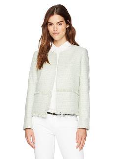 Nine West Women's Tweed Open Jacket