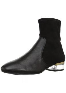 Nine West Women's URAZZA Fabric Ankle Boot Black
