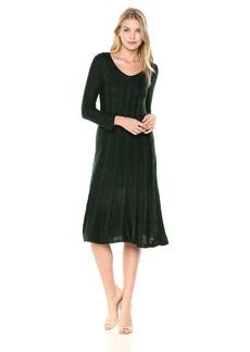 Nine West Women's V-Neck Fit &Flare Cable Dress  L