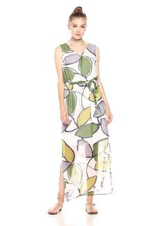 Nine West Women's V-Neck Maxi Dress with Self Sash